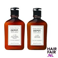 Depot 102 Anti-Dandruff Shampoo & 201 Refreshing Conditioner 250ml