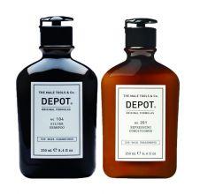 Depot 104 Silver Shampoo & 201 Refreshing Conditioner 250ml
