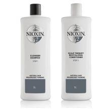 Nioxin System 2 Cleanser Shampoo & Scalp Revitaliser Conditioner 1000ml