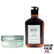 Depot 301 Matte Paste 75ml & 101 Normalizing Daily Shampoo 250ml