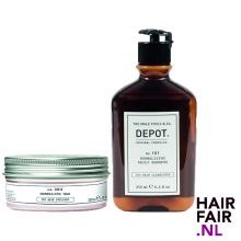 Depot 303 Modelling Wax 100ml & 101 Normalizing Daily Shampoo 250ml