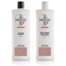Nioxin System 3 Cleanser Shampoo & Scalp Revitaliser Conditioner 1000ml