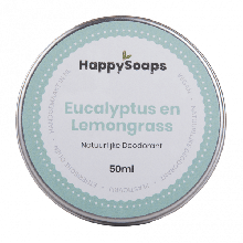 HappySoaps Natuurlijke Deodorant Eucalyptus en Lemongrass 50ml