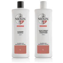 Nioxin System 4 Cleanser Shampoo & Scalp Revitaliser Conditioner 1000ml
