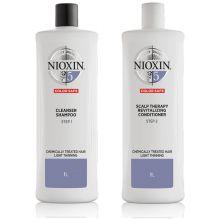 Nioxin System 5 Cleanser Shampoo & Scalp Revitaliser Conditioner 1000ml