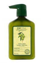 CHI Olive Organics Hair & Body Shampoo Body Wash 340ml