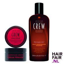 American Crew Cream Pomade 85gr & Daily Moisturizing Shampoo 250ml