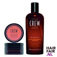 American Crew Defining Paste 85gr & Daily Moisturizing Shampoo 250ml