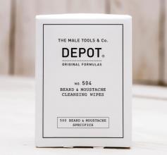 Depot 504 Beard & Moustache Cleansing Wipes 12x
