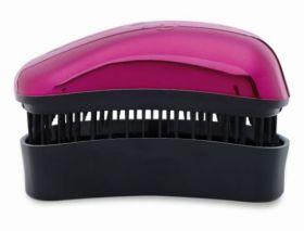 Dessata Bright Gift Set Fuchsia Detangling Hairbrush Original Size & Mini Size Travel Cover