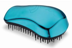 Dessata Bright Turquoise detangling Hairbrush Original Size