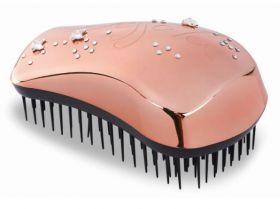 Dessata Swarovski Official Crystals Rose Gold Detangling Hairbrush Maxi Size