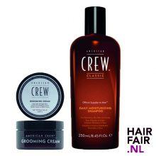American Crew Grooming Cream 85gr & Daily Moisturizing Shampoo 250ml