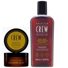 American Crew Molding Clay 85gr & Daily Deep Moisturzing Shampoo 250ml