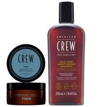 American Crew Fiber 85gr & Daily Deep Moisturizing Shampoo 250ml