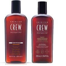 American Crew Fortifying Shampoo 250ml & Daily Moisturizing Conditioner 250ml