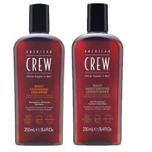 American Crew Daily Cleansing Shampoo 250ml & Daily Moisturizing Conditioner 250ml