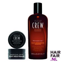 American Crew Heavy Hold Pomade 85gr & Daily Moisturizing Shampoo 250ml