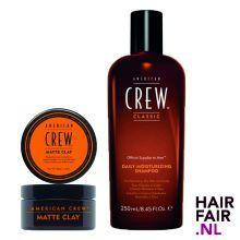 American Crew Matte Clay 85gr & Daily Moisturizing Shampoo 250ml