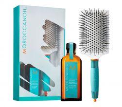 Moroccanoil Treatment 100ml met Ceramix Paddle Brush t.w.v. 24,90