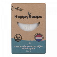 HappySoaps Happy Shaving Bar Munt 80g