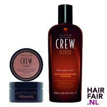 American Crew Pomade 85gr & Daily Moisturizing Shampoo 250ml