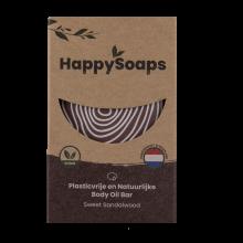 HappySoaps Body Oil Bar Sweet Sandalwood 70g