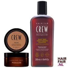 American Crew Pomade 85gr & Daily Deep Moisturizing Shampoo 250ml