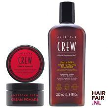 American Crew Cream Pomade 85gr & Daily Deep Moisturizing Shampoo 250ml