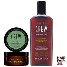 American Crew Forming Cream 85gr & Daily Deep Moisturizing Shampoo 250ml