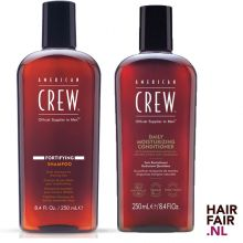 American Crew Fortifying Shampoo 1000ml & Daily Moisturizing Conditioner 1000ml