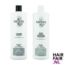 Nioxin System 1 Cleanser Shampoo & Scalp Revitaliser Conditioner 1000ml