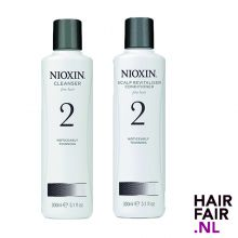 Nioxin System 2 Cleanser Shampoo & Scalp Revitaliser Conditioner 300ml