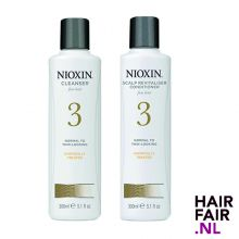 Nioxin System 3 Cleanser Shampoo & Scalp Revitaliser Conditioner 300ml