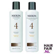 Nioxin System 4 Cleanser Shampoo & Scalp Revitaliser Conditioner 300ml