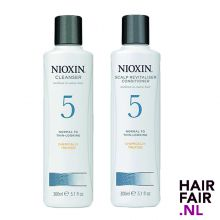 Nioxin System 5 Cleanser Shampoo & Scalp Revitaliser Conditioner 300ml