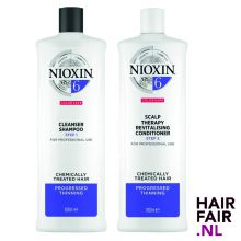Nioxin System 6 Cleanser Shampoo & Scalp Revitaliser Conditioner 1000ml