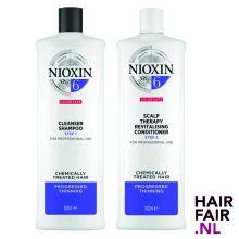 Nioxin System 6 Cleanser Shampoo & Scalp Revitaliser Conditioner 1000ml