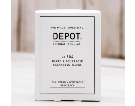 Depot 504 Beard & Moustache Cleansing Wipes 12x