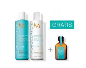 Moroccanoil Moisture Repair Duo 250 ml met gratis 25 ml treatment