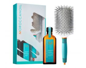 Moroccanoil Treatment 100ml met Ceramix Paddle Brush t.w.v. 24,90