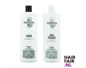 Nioxin System 1 Cleanser Shampoo & Scalp Revitaliser Conditioner 300ml